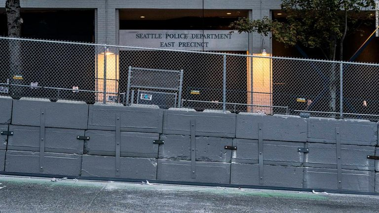 Seattle police to remove concrete barriers around precinct that was temporarily vacated during George Floyd protests