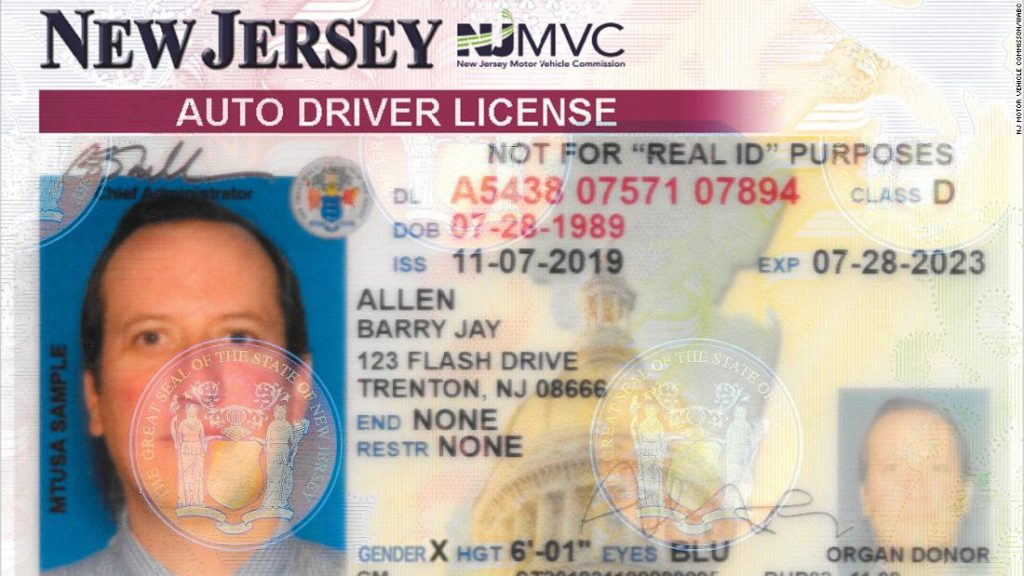 New Jersey adds 'X' gender marker on driver's licenses and other state identification