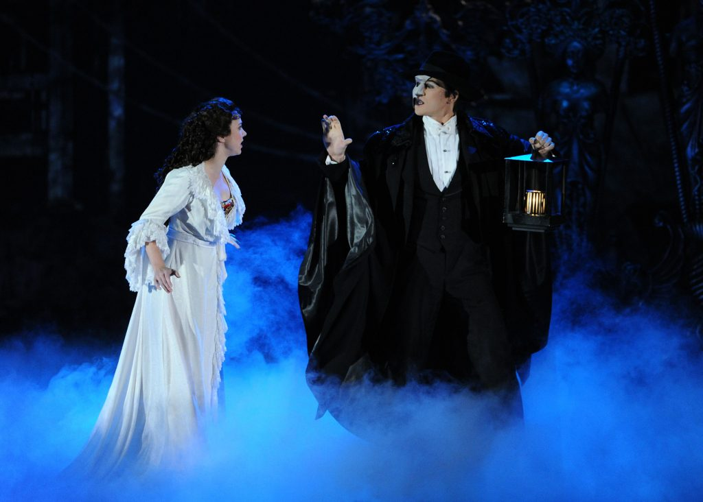 """The cast of  """"The Phantom Of The Opera"""" performs at the 67th Annual Tony Awards, on Sunday, June 9, 2013 in New York.  (Photo by Evan Agostini/Invision/AP)"""
