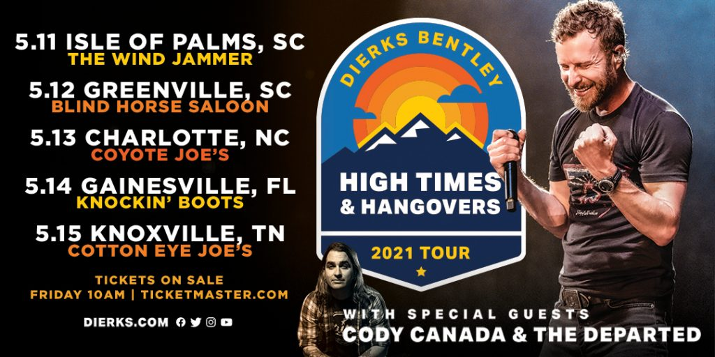 Dierks Bentley Launches 2021 Club Tour