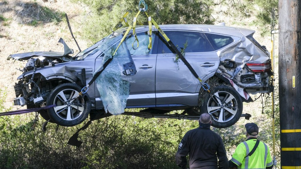 Tiger Woods Crash Caused By Unsafe Speed, LA Sheriff Says : NPR