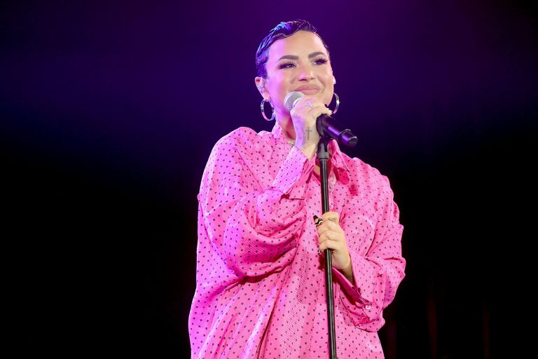"BEVERLY HILLS, CALIFORNIA - MARCH 22: Demi Lovato performs onstage during the OBB Premiere Event for YouTube Originals Docuseries ""Demi Lovato: Dancing With The Devil"" at The Beverly Hilton on March 22, 2021 in Beverly Hills, California. (Photo by Rich Fury/Getty Images for OBB Media)"