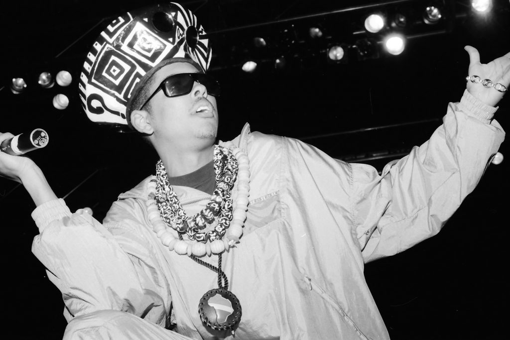 **FILE PHOTO** Shock G of Digital Underground Has Reportedly Passed Away. MOUNTAIN VIEW, CA - AUGUST 1: Shock G at KMEL Summer Jam 1991 in Mountain View, California on August 1, 1991. Credit: Pat Johnson/MediaPunch /IPX