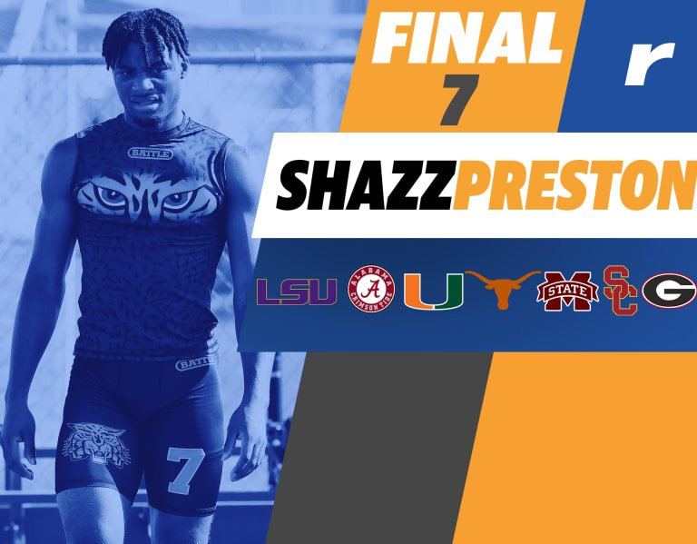 Rivals250 WR Shazz Preston down to seven finalists