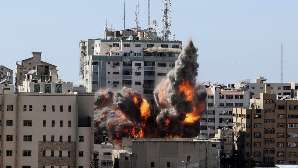 Video: Gaza Tower, Home to International Media, Destroyed in Airstrike
