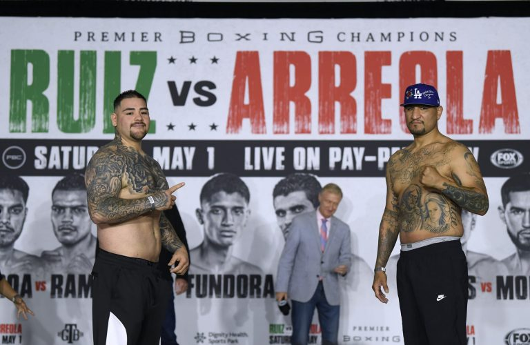 Andy Ruiz Jr. gets dropped early but defeats Chris Arreola by UD (Video)