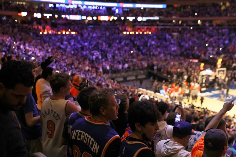 Knicks fans celebrating outside MSG like they just won the finals (Video)