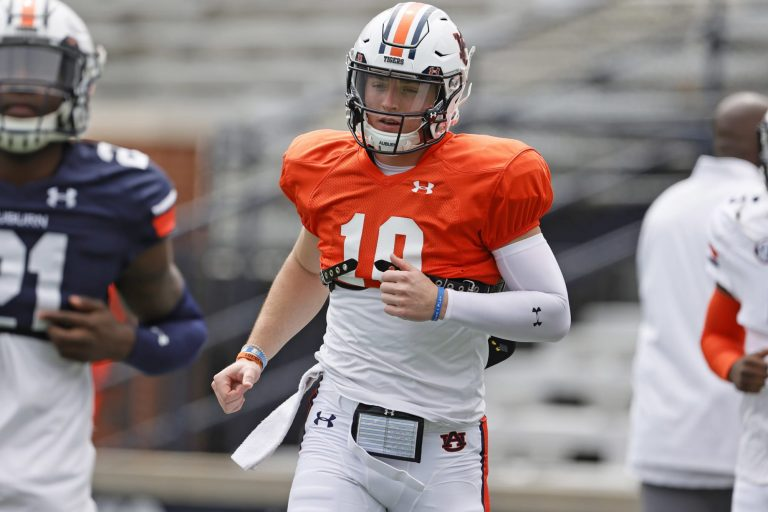 Auburn football coach Bryan Harsin reveals what he loves about Bo Nix