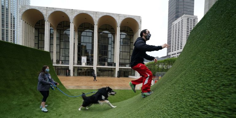 Grassy Oasis Emerges at New York City's Lincoln Center