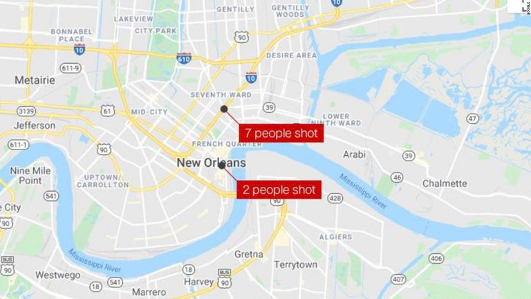 New Orleans shootings: 9 people were shot ovenight, and at least 1 person has died