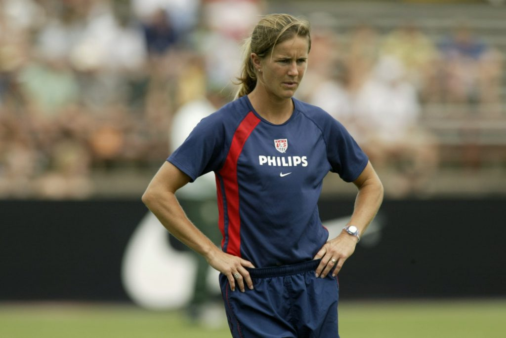 Brandi Chastain sees impact of iconic photo on and off the field