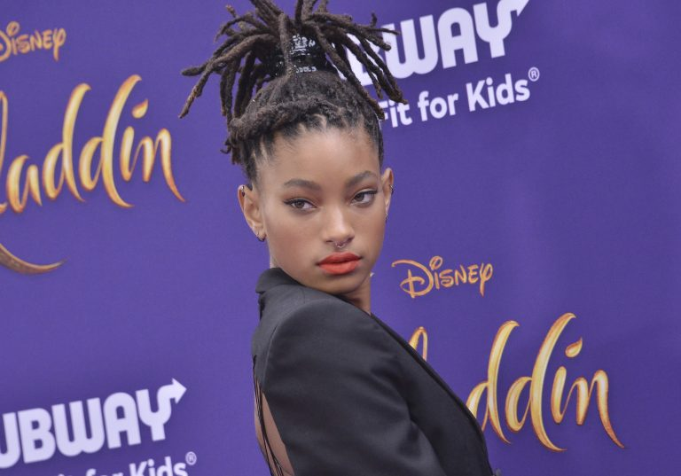 """Willow Smith arrives at the Disney """"Aladdin"""" Los Angeles Premiere held at the El Capitan Theatre in Hollywood, CA on Tuesday, May 21, 2019. (Photo By Sthanlee B. Mirador/Sipa USA)(Sipa via AP Images)"""