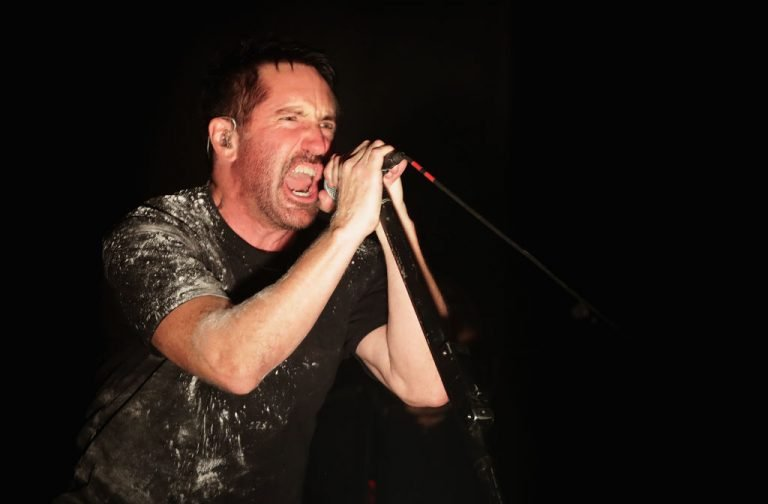INCHEON, SOUTH KOREA - AUGUST 11:  Trent Reznor of Nine Inch Nails performs live during the Incheon Pentaport Rock Festival 2018 on August 11, 2018 in Incheon, South Korea.  (Photo by Han Myung-Gu/WireImage)