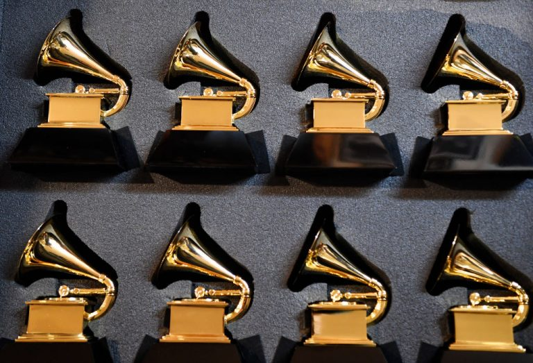 RIDGWAY, CO - JANUARY 12: John Billings, Billings Artworks, has two cases of stunt Grammy statues that he will take with him for the upcoming awards show in his studio in Ridgway Colorado January 12, 2019. Stunt statues are used for props in various situations in the show after after parties. (Photo by Andy Cross/MediaNews Group/The Denver Post via Getty Images)