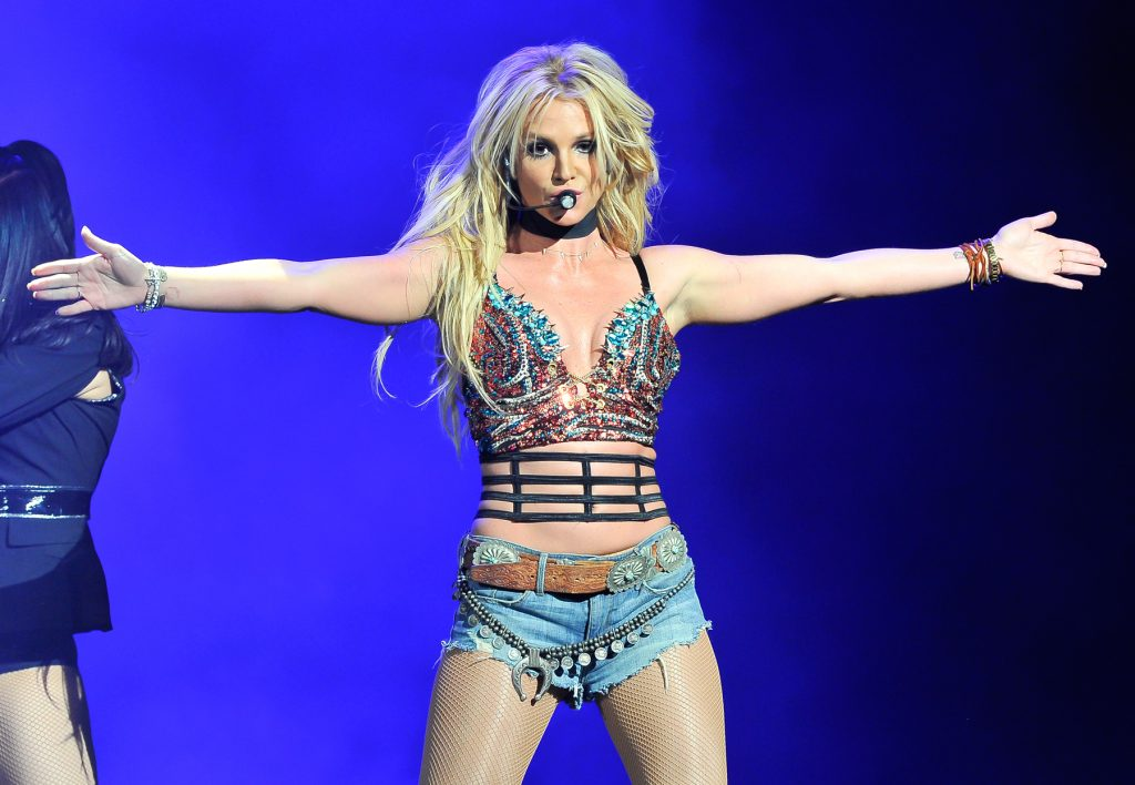 SAN JOSE, CA - DECEMBER 03:  Britney Spears performs at the NOW 99.7 Triple Ho Show 7.0 t SAP Center on December 3, 2016 in San Jose, California.  (Photo by Steve Jennings/WireImage)