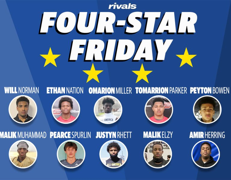 Four-Star Friday: 10 new four-stars emerge in 2023 class