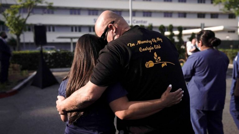 Ceremony honors COVID-19 patients who died at Southern California hospital