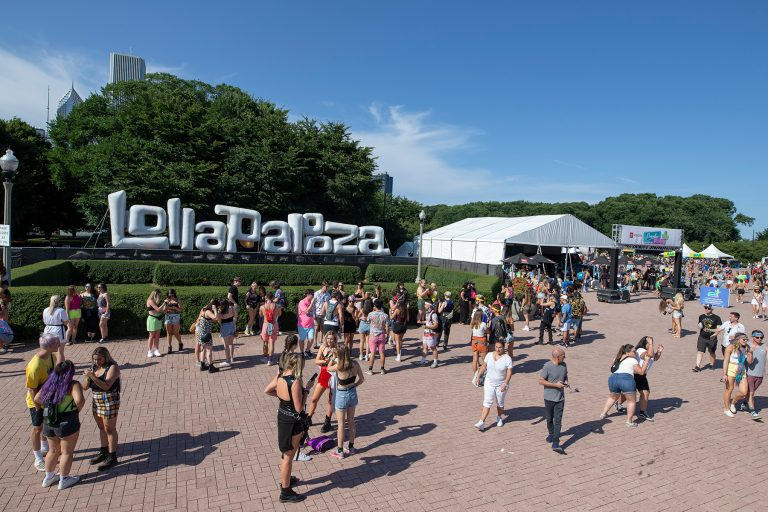CHICAGO, IL - AUGUST 03: General atmosphere seen on day three of Lollapalooza at Grant Park on August 3, 2019 in Chicago, Illinois. (Photo by Michael Hickey/Getty Images)
