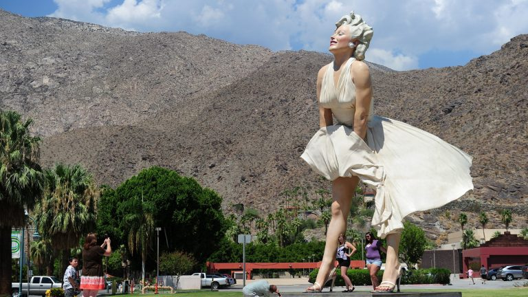 Giant Marilyn Monroe Statue Returns To Palm Springs, But Its Backside Faces Backlash : NPR