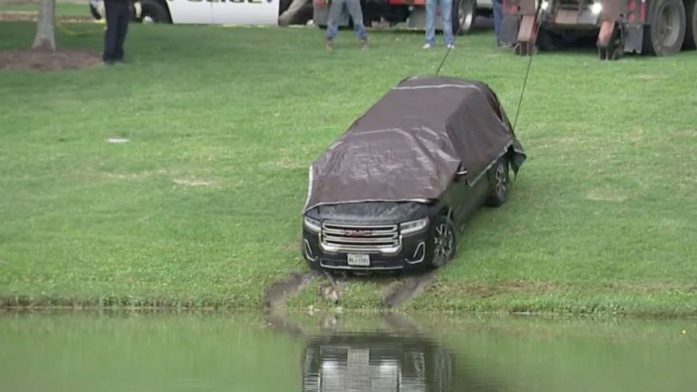 Missing Texas mother found dead inside car recovered from pond, police say