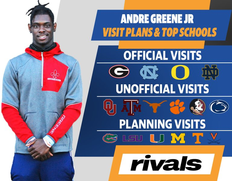 Four-star WR Andre Greene Jr. reveals his visit plans and top schools