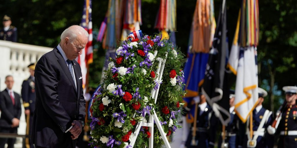 Biden Calls for Defense of Democracy in U.S. and World on Memorial Day