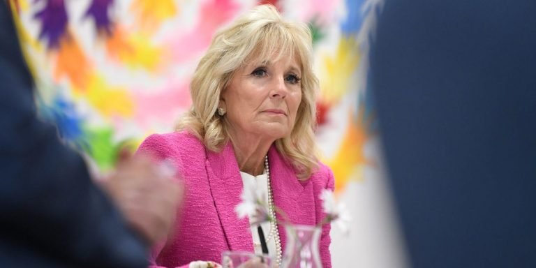 Jill Biden Presses for School Funding, Visits Military Families and Meets the Queen