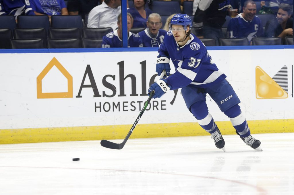 Best moment from the Lightning's blowout was Yanni Gourde's fake out