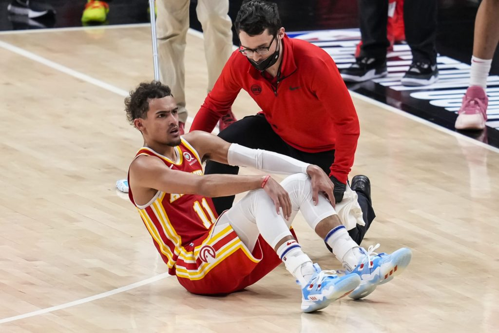Trae Young ankle injury update after Game 3
