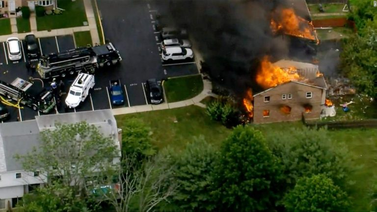 Several Philadelphia-area homes were severely damaged after an explosion