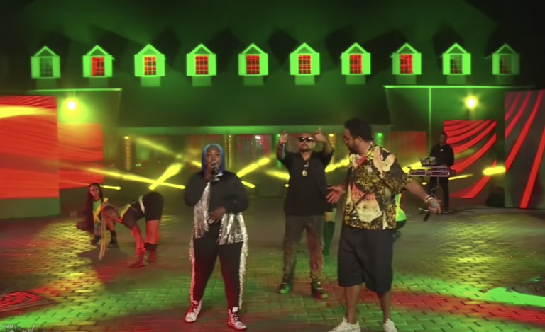 Sean Paul and Shaggy Join Spice for 'Go Down Deh' on 'Kimmel'