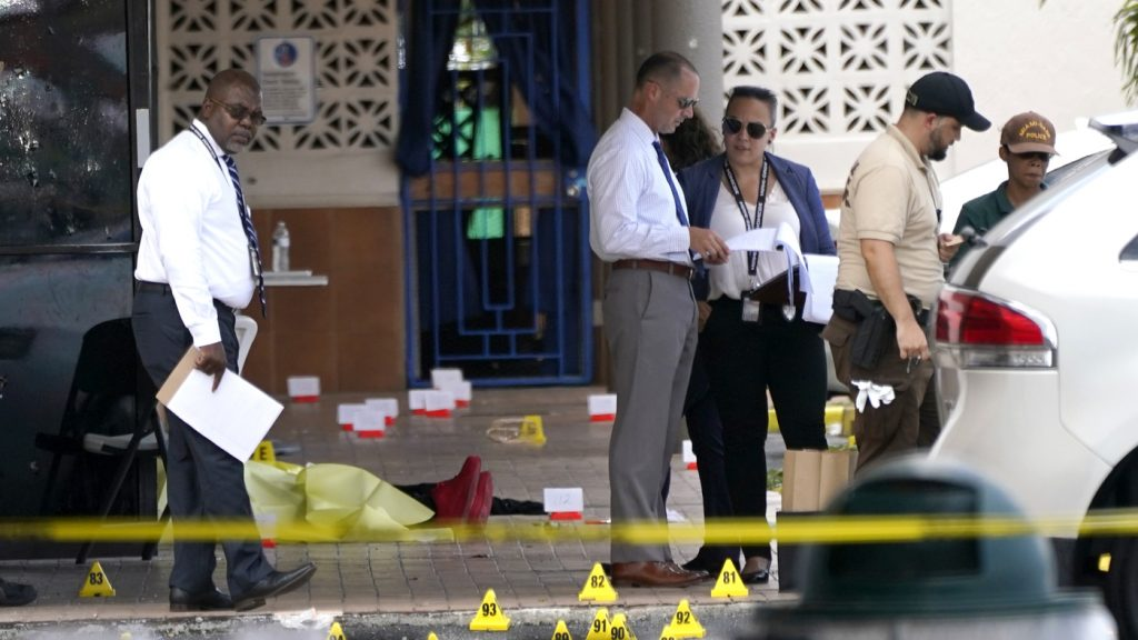 Miami Police Are Searching For Suspects In A Banquet Hall Shooting : NPR