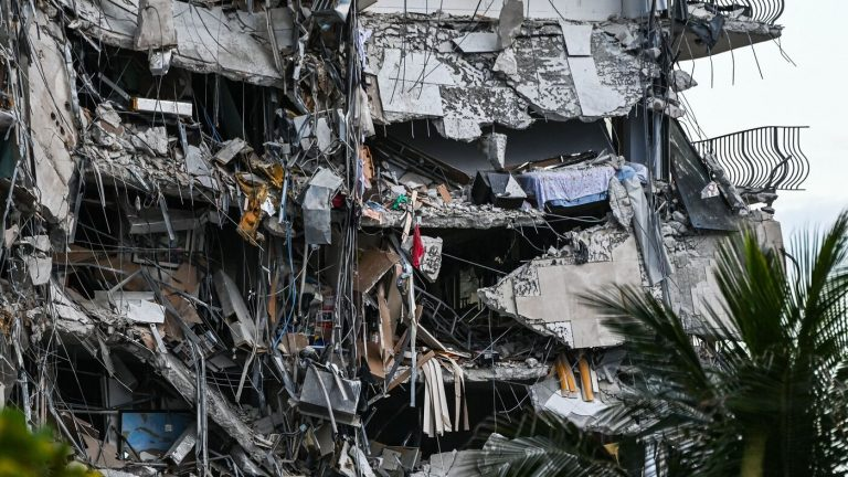 At Least 1 Dead After A 12-Story Building Partially Collapses Near Miami : NPR