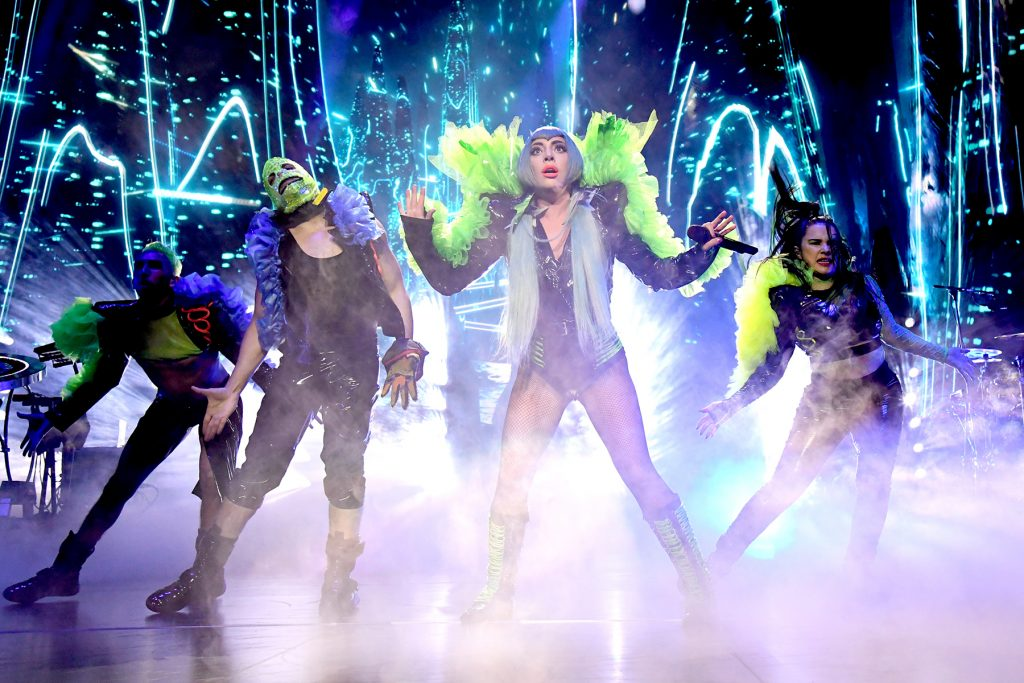 MIAMI, FLORIDA - FEBRUARY 01: Lady Gaga performs onstage during AT&T TV Super Saturday Night at Meridian at Island Gardens on February 01, 2020 in Miami, Florida. (Photo by Kevin Mazur/Getty Images for AT&T)