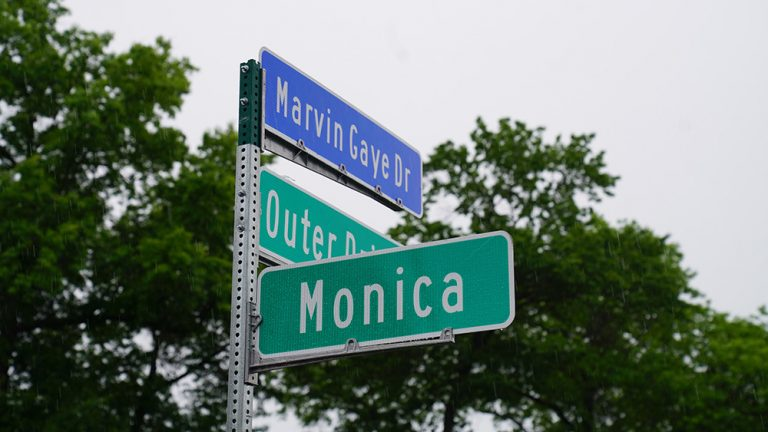 Marvin Gaye Drive Unveiled in Detroit Ahead of Juneteenth Festivities