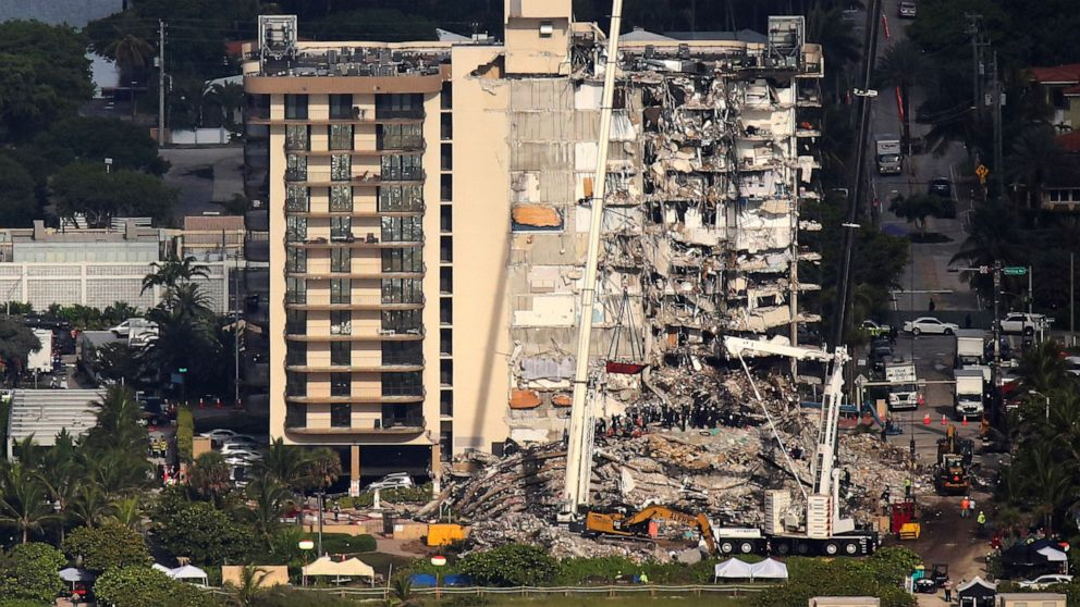 Death toll climbs to 9 as search for survivors goes on in collapsed Florida condo building
