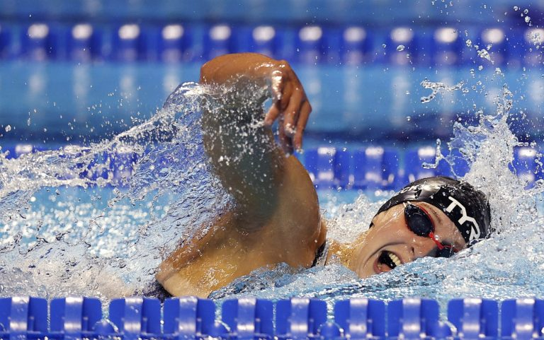 What's the fastest women's freestyle swimming time for every distance?