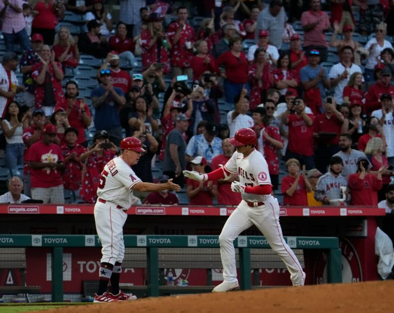 Shohei Ohtani just broke one of Mike Trout's records