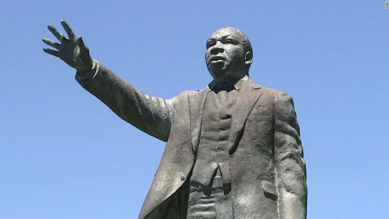 'Horrific' graffiti on Martin Luther King Jr. statue in Southern California is being investigated as hate crime, police say