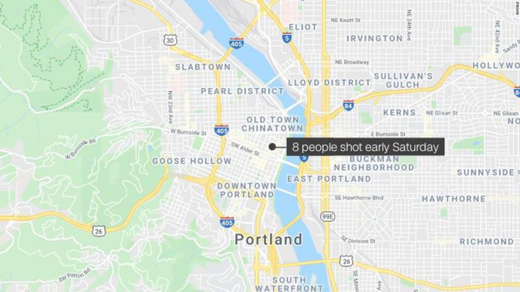 8 people wounded in downtown Portland, Oregon, shooting