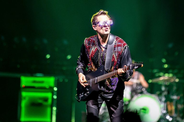 ATLANTA, GEORGIA - MARCH 26: Matt Bellamy of Muse performs live in concert at State Farm Arena on March 23, 2019 in Atlanta, Georgia. Photo: Ryan Fleisher/imageSPACE/MediaPunch /IPX