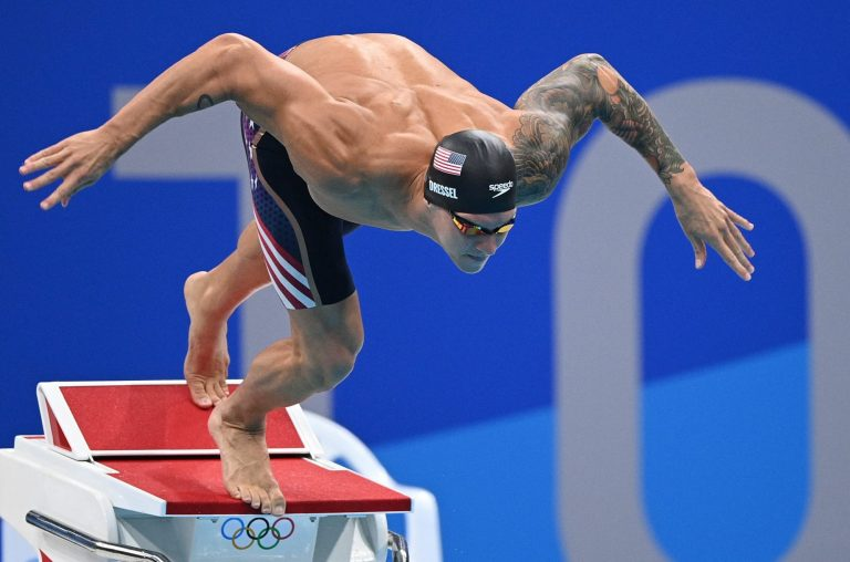 Caeleb Dressel dominates with another gold in breathless 50m freestyle final
