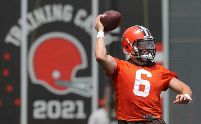 Baker Mayfield isn't following his Browns contract as closely as we are