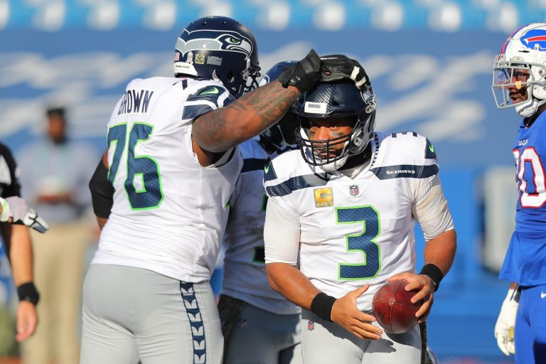 Duane Brown says his beef with Russell Wilson is no more
