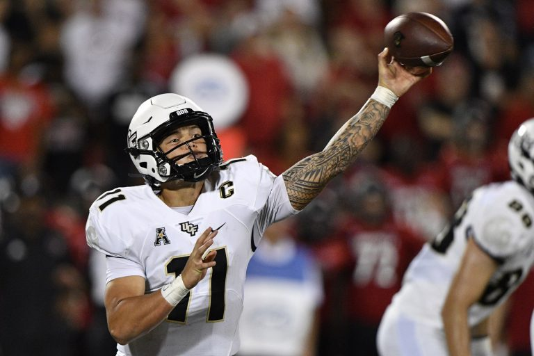 Broken clavicle recovery timeline for UCF QB