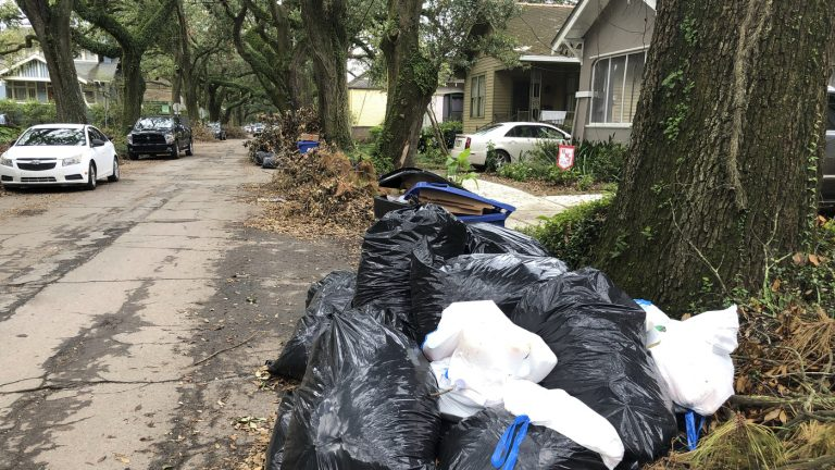 New Orleans Residents Hold Trash Parade To Protest Delay In Garbage Pickup : NPR