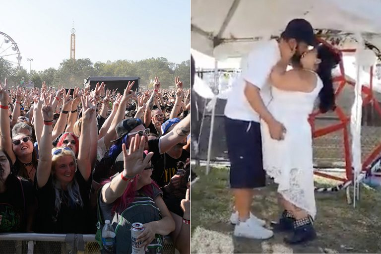 32 Couples Were Married This Past Weekend at Riot Fest