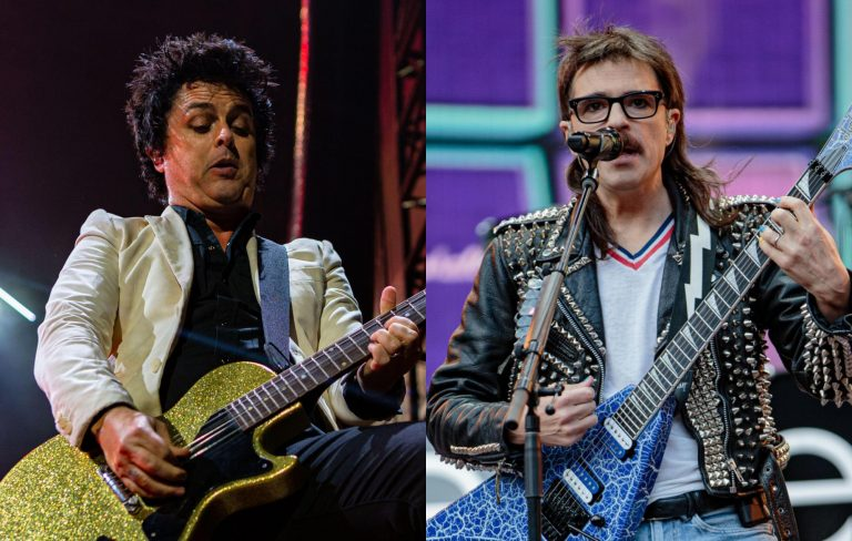 Watch Green Day prank Weezer by storming the stage in bizarre costumes