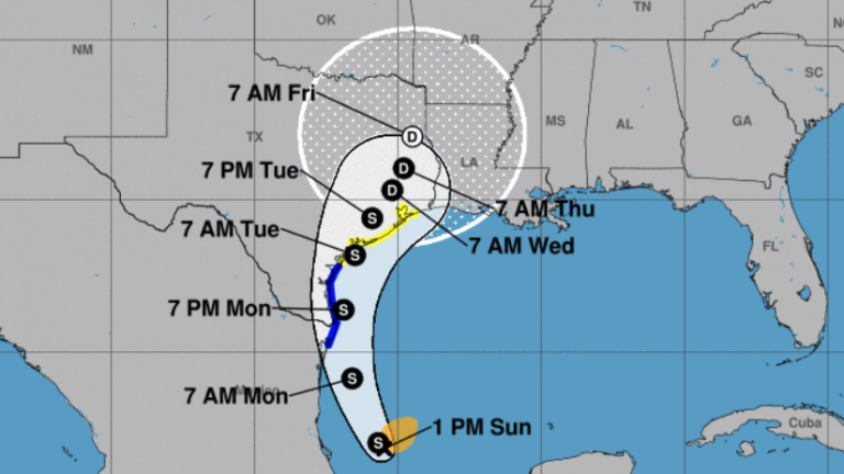 Texas, Louisiana Could See Heavy Rains As New Tropical Storm Forms : NPR
